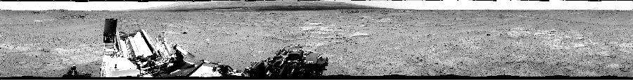 This Cylindrical image was acquired by NASA's Mars rover Curiosity on Sol 351, at drive 302, site number 11.
