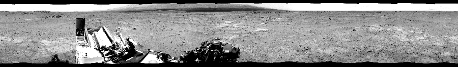 This Cylindrical Perspective image was acquired by NASA's Mars rover Curiosity on Sol 351, at drive 302, site number 11.
