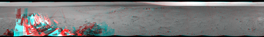 This 3D Mosaics image was acquired by NASA's Mars rover Curiosity on Sol 356, at drive 748, site number 11.