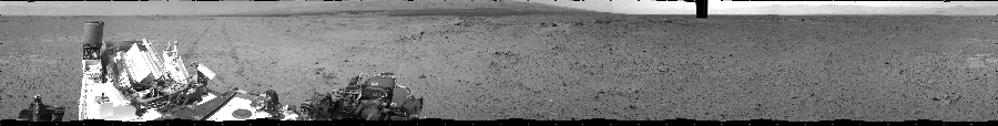 This Cylindrical image was acquired by NASA's Mars rover Curiosity on Sol 356, at drive 748, site number 11.