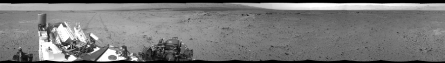 This Cylindrical Perspective image was acquired by NASA's Mars rover Curiosity on Sol 356, at drive 748, site number 11.