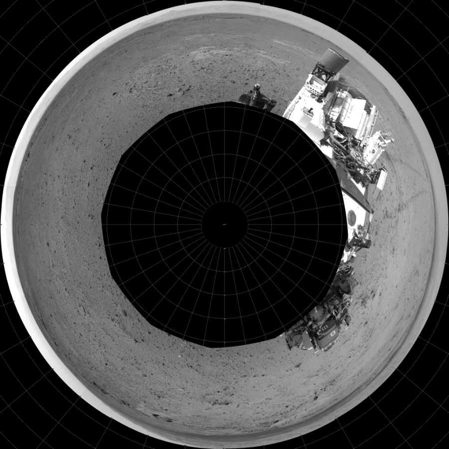 This Polar image was acquired by NASA's Mars rover Curiosity on Sol 356, at drive 748, site number 11.