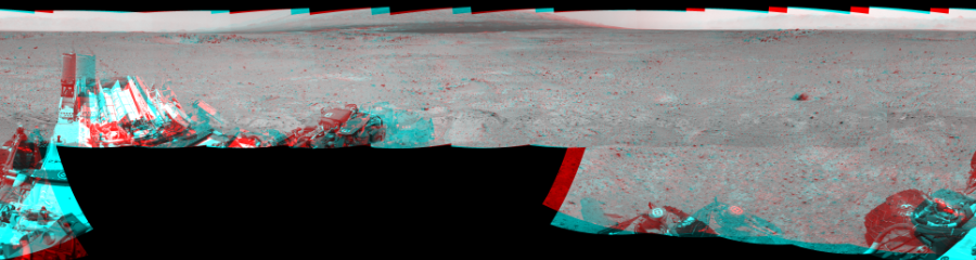 This Cylindrical Perspective image was acquired by NASA's Mars rover Curiosity on Sol 361, at drive 244, site number 12.