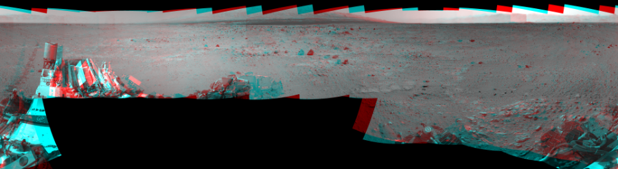 This 3D Mosaics image was acquired by NASA's Mars rover Curiosity on Sol 371, at drive 974, site number 13.