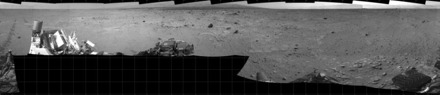 This Cylindrical image was acquired by NASA's Mars rover Curiosity on Sol 371, at drive 974, site number 13.