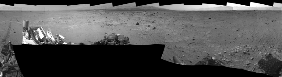 This Cylindrical Perspective image was acquired by NASA's Mars rover Curiosity on Sol 371, at drive 974, site number 13.