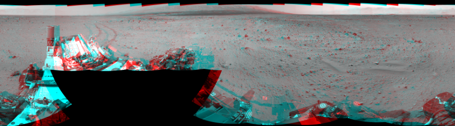 This 3D Mosaics image was acquired by NASA's Mars rover Curiosity on Sol 372, at drive 0, site number 14.