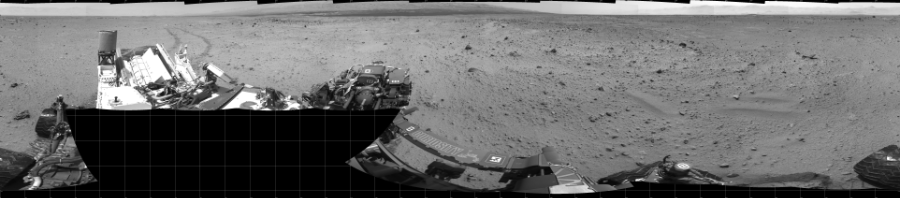 This Cylindrical image was acquired by NASA's Mars rover Curiosity on Sol 372, at drive 0, site number 14.