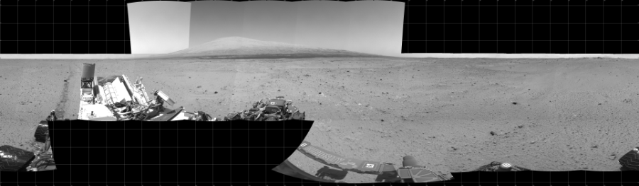 This Cylindrical image was acquired by NASA's Mars rover Curiosity on Sol 378, at drive 1132, site number 14.