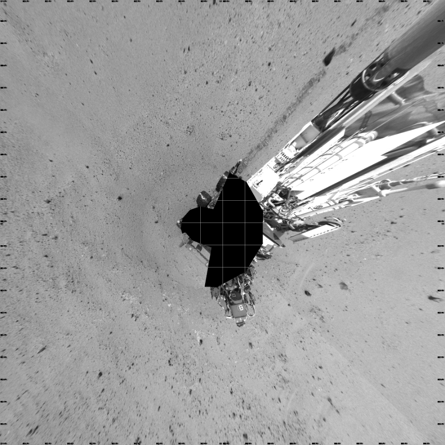 This Vertical Projection image was acquired by NASA's Mars rover Curiosity on Sol 378, at drive 1132, site number 14.