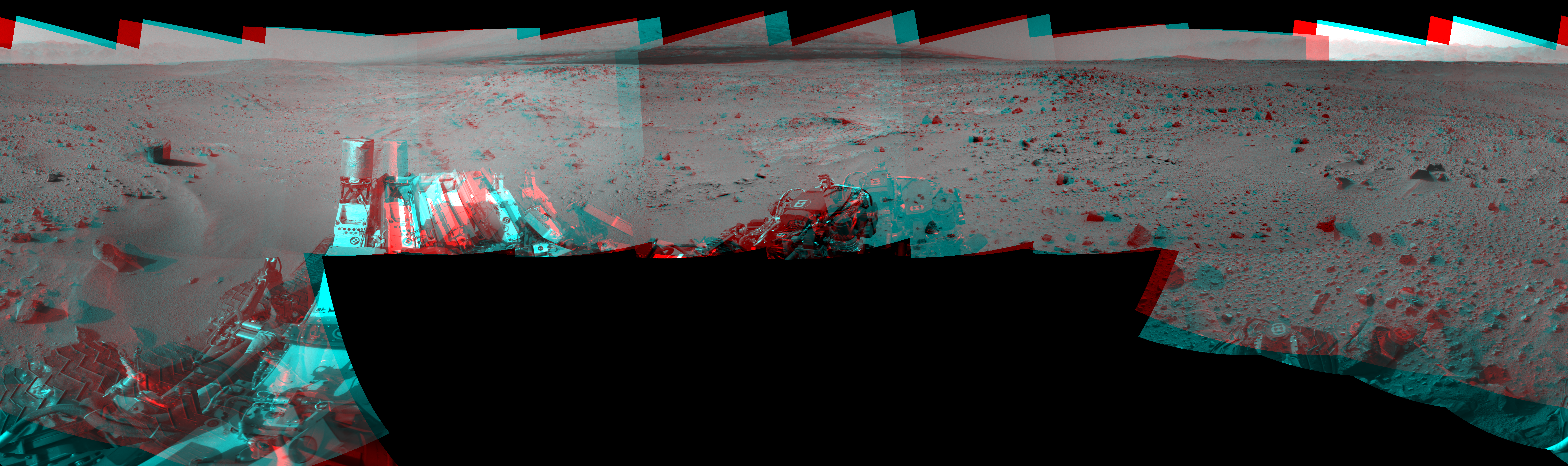 This 3D Mosaics image was acquired by NASA's Mars rover Curiosity on Sol 402, at drive 328, site number 16.