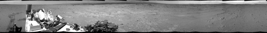This Cylindrical image was acquired by NASA's Mars rover Curiosity on Sol 408, at drive 0, site number 17.
