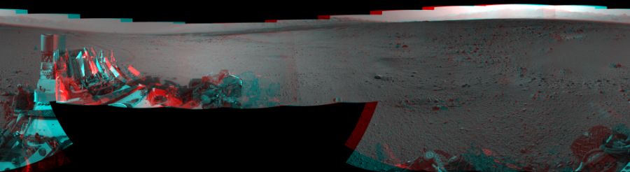 This Cylindrical Perspective image was acquired by NASA's Mars rover Curiosity on Sol 424, at drive 1066, site number 19.