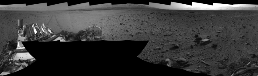This Cylindrical Perspective image was acquired by NASA's Mars rover Curiosity on Sol 426, at drive 0, site number 20.