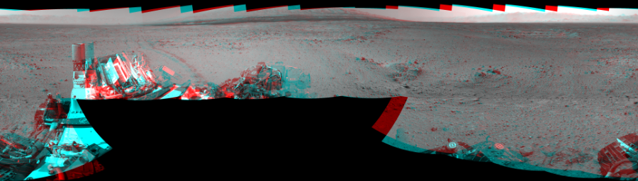 This Cylindrical Perspective image was acquired by NASA's Mars rover Curiosity on Sol 433, at drive 0, site number 21.