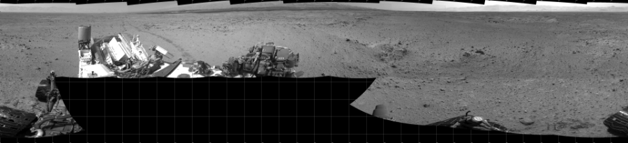 This Cylindrical image was acquired by NASA's Mars rover Curiosity on Sol 433, at drive 0, site number 21.