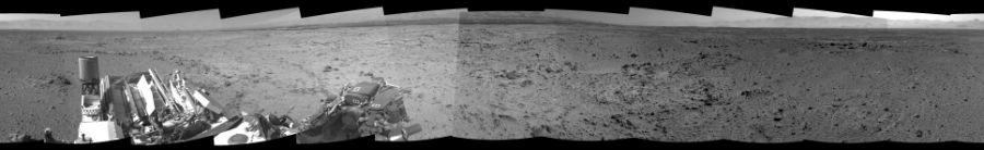 This Cylindrical Perspective image was acquired by NASA's Mars rover Curiosity on Sol 454, at drive 0, site number 23.
