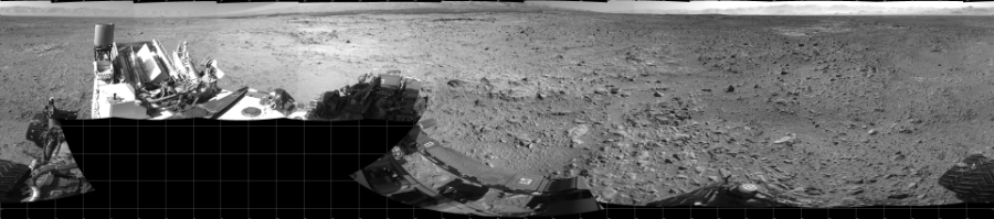 This Cylindrical image was acquired by NASA's Mars rover Curiosity on Sol 470, at drive 0, site number 24.