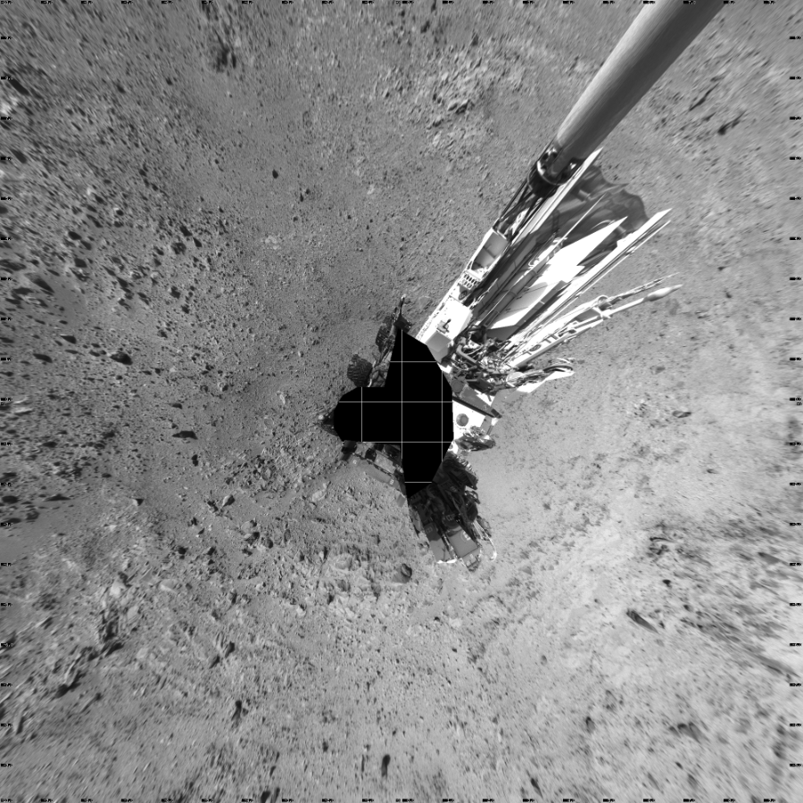 This Vertical Projection image was acquired by NASA's Mars rover Curiosity on Sol 470, at drive 0, site number 24.