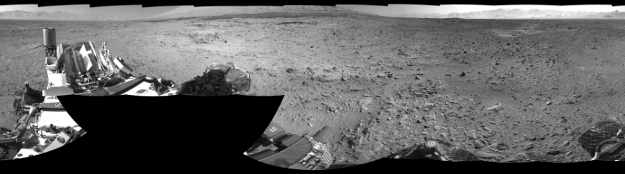 This Cylindrical Perspective image was acquired by NASA's Mars rover Curiosity on Sol 470, at drive 0, site number 24.