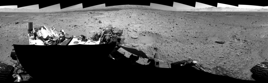 This Cylindrical Perspective image was acquired by NASA's Mars rover Curiosity on Sol 494, at drive 0, site number 25.