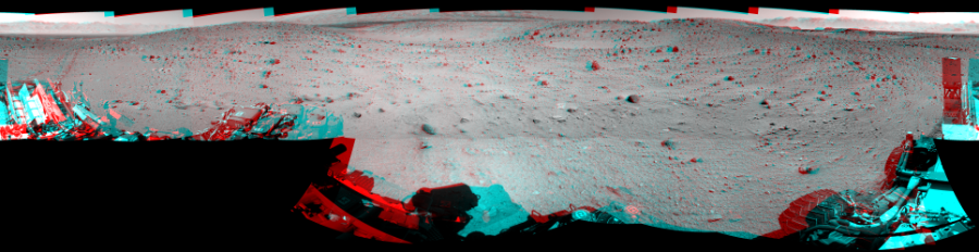 This 3D Mosaics image was acquired by NASA's Mars rover Curiosity on Sol 522, at drive 1296, site number 25.