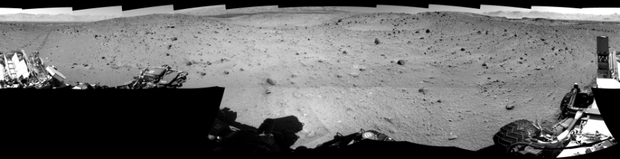 This Cylindrical Perspective image was acquired by NASA's Mars rover Curiosity on Sol 522, at drive 1296, site number 25.
