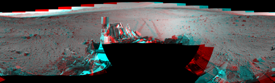 This Cylindrical Perspective image was acquired by NASA's Mars rover Curiosity on Sol 524, at drive 1496, site number 25.