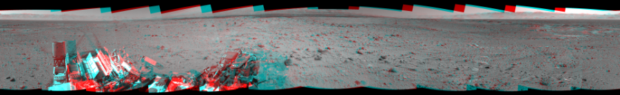 This 3D Mosaics image was acquired by NASA's Mars rover Curiosity on Sol 515, at drive 750, site number 25.