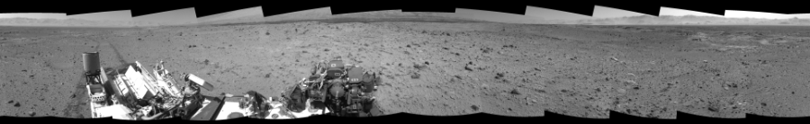 This Cylindrical Perspective image was acquired by NASA's Mars rover Curiosity on Sol 515, at drive 750, site number 25.