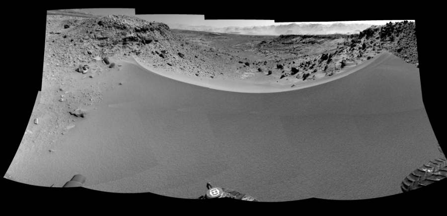 This Cylindrical Perspective image was acquired by NASA's Mars rover Curiosity on Sol 528, at drive 168, site number 26.