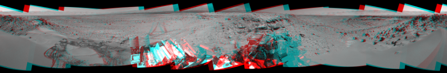 This 3D Mosaics image was acquired by NASA's Mars rover Curiosity on Sol 533, at drive 292, site number 26.