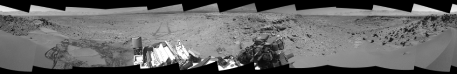 This Cylindrical Perspective image was acquired by NASA's Mars rover Curiosity on Sol 533, at drive 292, site number 26.