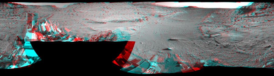 This Cylindrical Perspective image was acquired by NASA's Mars rover Curiosity on Sol 539, at drive 708, site number 27.