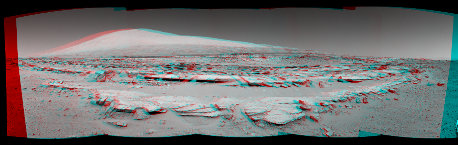 This 3D Mosaics image was acquired by NASA's Mars rover Curiosity on Sol 548, at drive 802, site number 27.