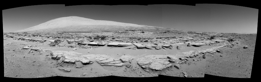 This Cylindrical Perspective image was acquired by NASA's Mars rover Curiosity on Sol 548, at drive 802, site number 27.