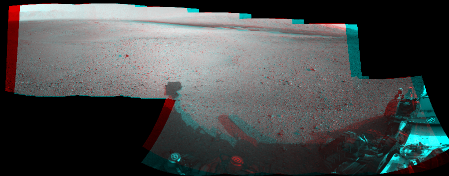 This Cylindrical Perspective image was acquired by NASA's Mars rover Curiosity on Sol 22, at drive 260, site number 3.