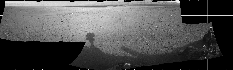 This Cylindrical image was acquired by NASA's Mars rover Curiosity on Sol 22, at drive 260, site number 3.