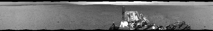 This Cylindrical Perspective image was acquired by NASA's Mars rover Curiosity on Sol 24, at drive 372, site number 3.