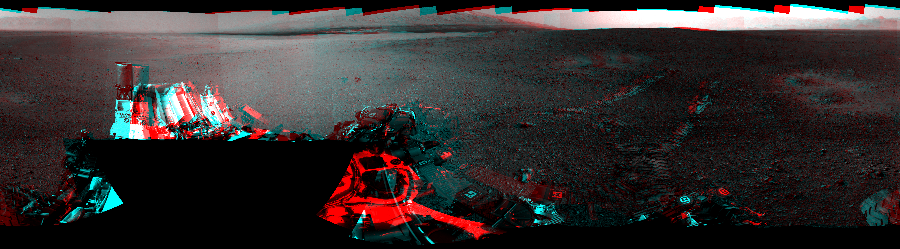 This 3D Mosaics image was acquired by NASA's Mars rover Curiosity on Sol 16, at drive 78, site number 3.