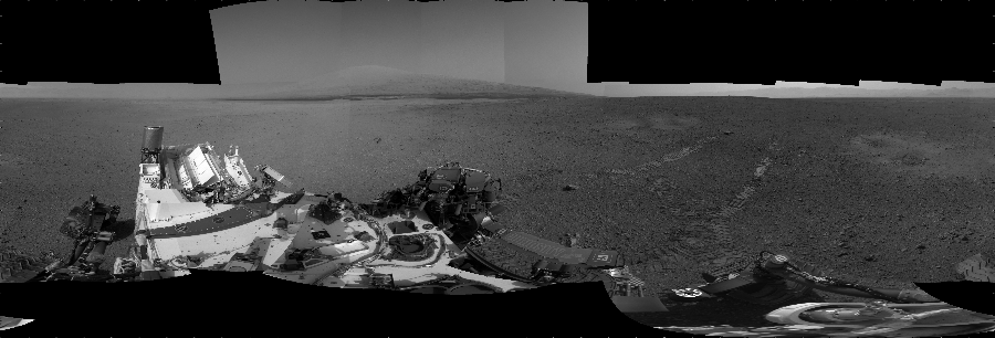 This Cylindrical image was acquired by NASA's Mars rover Curiosity on Sol 16, at drive 78, site number 3.