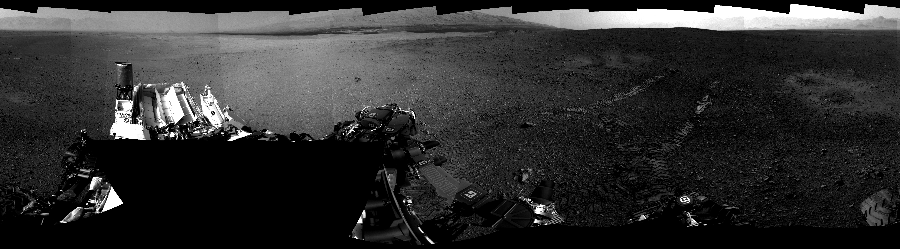 This Cylindrical Perspective image was acquired by NASA's Mars rover Curiosity on Sol 16, at drive 78, site number 3.