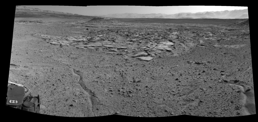 This Cylindrical Perspective image was acquired by NASA's Mars rover Curiosity on Sol 589, at drive 0, site number 31.