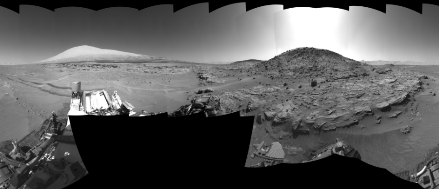 This Cylindrical Perspective image was acquired by NASA's Mars rover Curiosity on Sol 621, at drive 1330, site number 31.