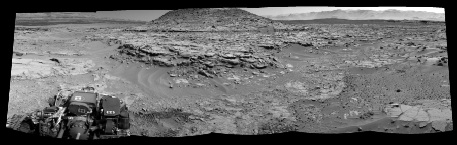 This Cylindrical Perspective image was acquired by NASA's Mars rover Curiosity on Sol 597, at drive 718, site number 31.