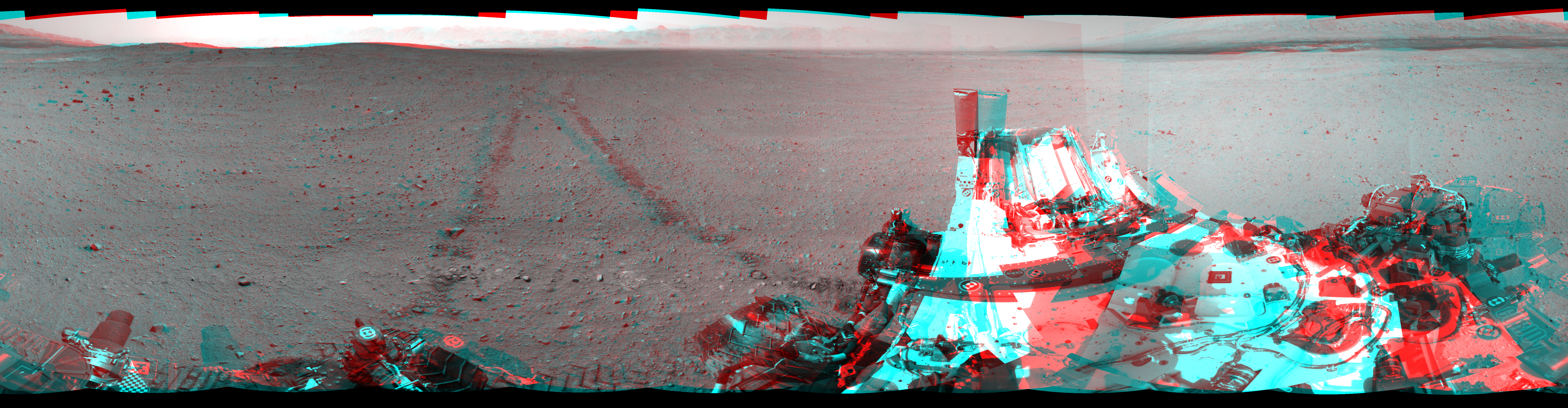This Cylindrical Perspective image was acquired by NASA's Mars rover Curiosity on Sol 29, at drive 0, site number 4.