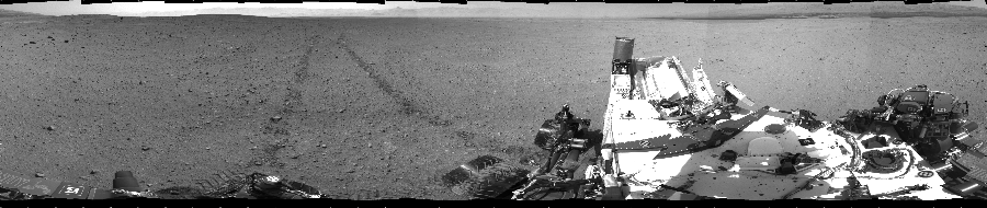This Cylindrical image was acquired by NASA's Mars rover Curiosity on Sol 29, at drive 0, site number 4.