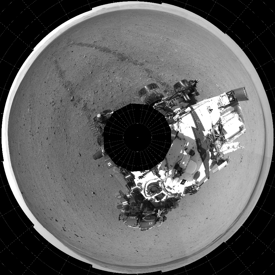 This Polar image was acquired by NASA's Mars rover Curiosity on Sol 29, at drive 0, site number 4.