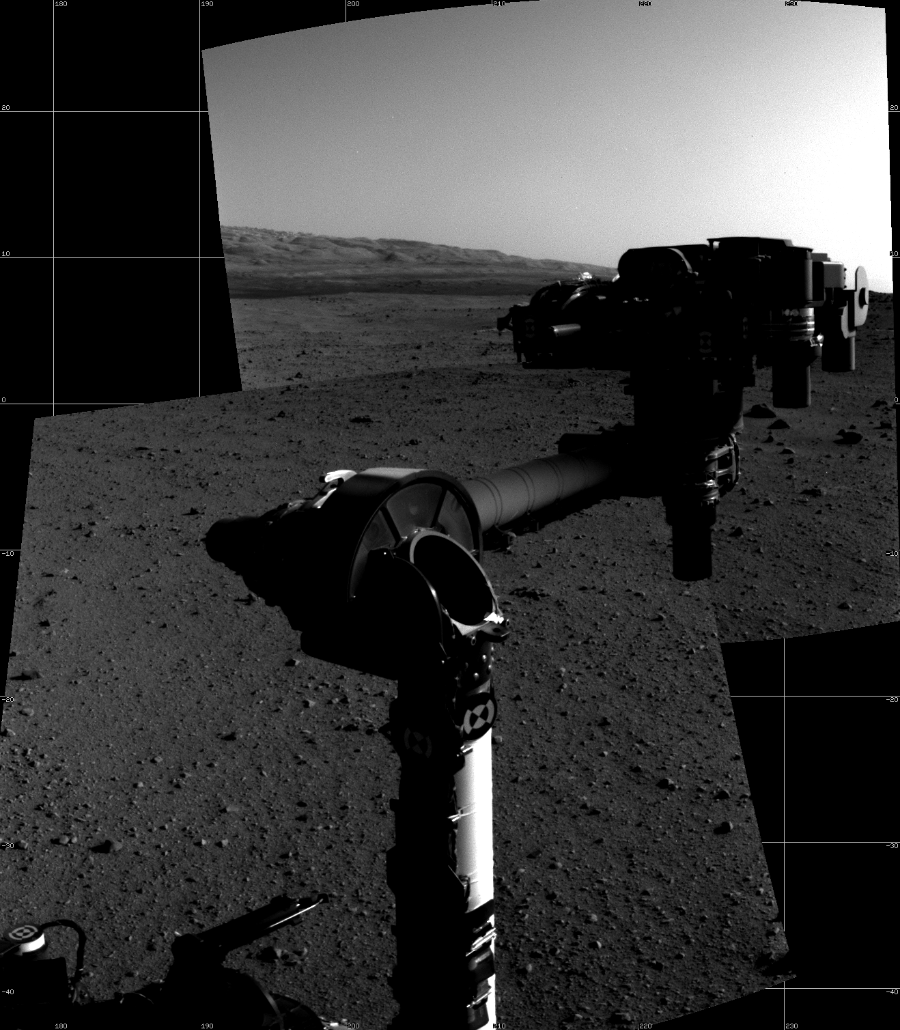 This Cylindrical image was acquired by NASA's Mars rover Curiosity on Sol 30, at drive 0, site number 4.