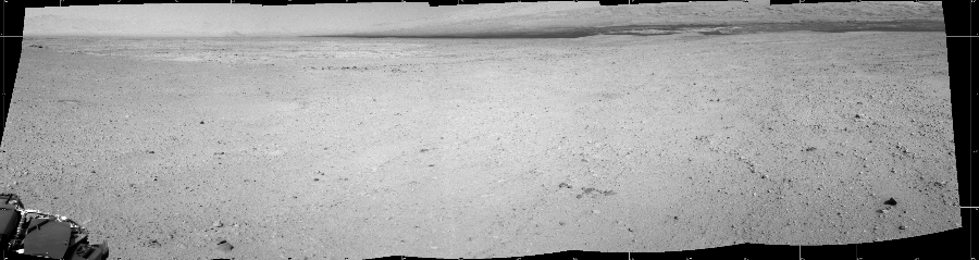 This Cylindrical image was acquired by NASA's Mars rover Curiosity on Sol 41, at drive 1238, site number 4.